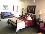 Optional 3rd BR sleeps up to 5.  Dbl bed shown with fold-out love seat for extra single bed.