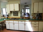 Large fully equipped kitchen with plenty of counter space for large dinners!