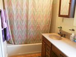 Master BR full bath--roomy, modern with tub and shower, plenty of counter space!