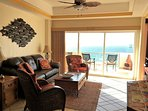 Beautiful View of the Sea of Cortez from the Professionally Decorated Family Room! Queen Sofa Bed!