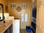 Master Bathroom w/Large Tub! Wall Mounted Hair Dryer!