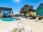 Large sundeck surrounds the pool.