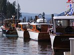Wooden boat show at the Coeur d'Alene resort.