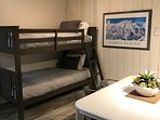 Bunk Beds are located in the Great room area