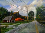 The Original Painting of Vermont, by Andre Nikolaevich in Crow's Nest Hallway, is available for sale
