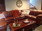 Family room, you don't want to get off this leather sectional.