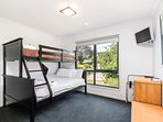 The bunkbed room with garden views