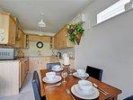 Open plan kitchen/lounge area.