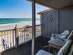 Great view of the beach and ocean from the third floor.  This is the view you and your family will enjoy, this isn't a...