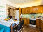 Fully equipped functional kitchen
