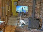 40' Smart TV and Wood Stove