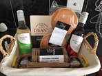 An example of our complimentary welcome basket which is left for all guests. (Contents may vary)