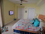 Master bedrm with 39 inch tv, giant private bath, walk-in closet and great views
