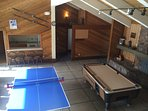 Ping pong and pool table (nominal fee)
