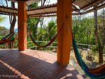 Take the stairs to the very top and relax with the views at our Hammock Rotunda