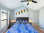 Master bedroom has king size bed with 12 inch foam mattress for an amazing sleep