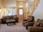 Rio Vista Log Cabin Retreat  - Living room seating