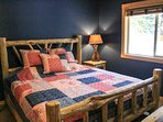Rio Vista Log Cabin Retreat  - Master bedroom King bed