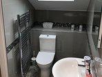 new en suite with huge power shower