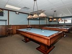 New lodge pool room (3 tables).