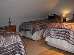 Bedroom 4 with three single beds