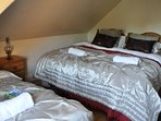 Bedroom 4 made up as a double bed and 1 single bed