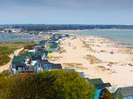 Hengistbury spit peninsular located nearby in area of outstanding natural beauty