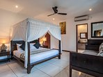 Bedroom main villa with separate dressing room