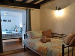 The day bed in the master suite offers flexible accommodation