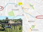A escasos 5 minutos de 'Fly Toledo', la mayor tirolina urbana de Europa.