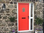Traditional stone Barn, constructed using field stone. Front door entrance.