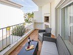 Terrace with Barbecue Views to the Pool Area