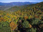 Aerial View: Beginning of fall color