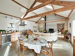 Beautiful open plan kitchen living dining space