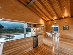 Large kitchen area offering superb mountain view from the large window