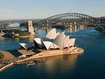 Location Shot-Sydney Harbour Bridge & Opera House