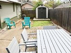 Nice backyard space, a rarity this close to downtown