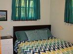 Bedroom # 2 (Queen size memory foam mattress). Ceiling fan.