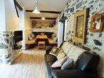 Le salon de la Bergerie : confort et convivialité