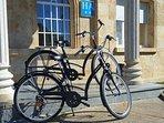 Puedes ir hasta el centro de la ciudad en bicicleta.