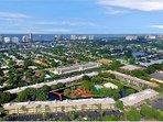Aerial view of the resort nestled in elegant Park Shore