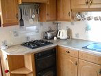 The left-hand view of your Kitchen Area where all your catering needs are catered for.