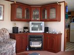 Your Entertainment Area where dvd player, freeview tv, and cd player are available.