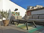 250 sqft rooftop terrace oriented Southward