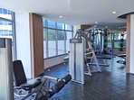 Gym complete with full-body-workout equipment