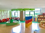 Colorful interiors with child-friendly toys and play areas