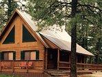 Mackey Log Cabin in Summer