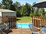 Small pool accessed via decking area at the rear of the property.