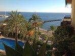 Marina, beach and pool