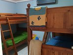 Second bedroom with 2 bunk beds size twin.